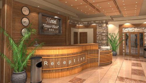 Интериор на рецепция и лоби бар